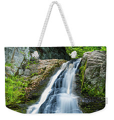 Weekender Tote Bag featuring the photograph Cascade Falls In South Portland In Maine by Ranjay Mitra