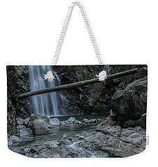 Weekender Tote Bag featuring the photograph Cascade Falls In Summer by Rod Wiens