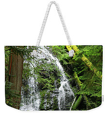 Cascade Falls - Orcas Island Weekender Tote Bag by Art Block Collections