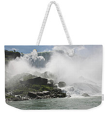 Weekender Tote Bag featuring the photograph Cascade Of Niagra Falls by Jeff Folger