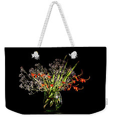 Cascade Of White And Orange. Weekender Tote Bag by Torbjorn Swenelius