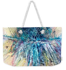 Weekender Tote Bag featuring the painting Cascade Ridge by Carolyn Rosenberger