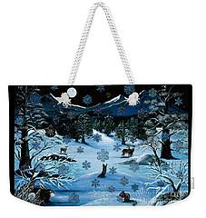 Cascade Snowflake Weekender Tote Bag