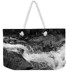 Cascade Stream Gorge, Rangeley, Maine  -70756-70771-pano-bw Weekender Tote Bag