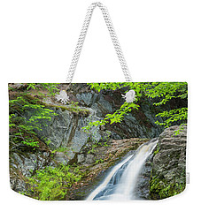 Weekender Tote Bag featuring the photograph Cascade Waterfalls In South Maine by Ranjay Mitra