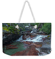 Weekender Tote Bag featuring the photograph Cascades by Gary Lengyel