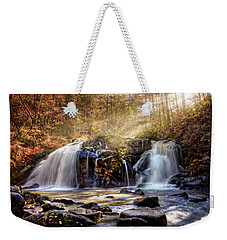 Weekender Tote Bag featuring the photograph Cascades Of Light by Debra and Dave Vanderlaan