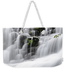 Weekender Tote Bag featuring the photograph Cascading Mirror Lake Falls by Renee Hardison