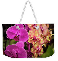 Cascading Orchids Weekender Tote Bag by Penny Lisowski