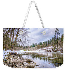 Weekender Tote Bag featuring the photograph Cascasde Mountain Landscape by Spencer McDonald