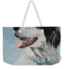 Weekender Tote Bag featuring the painting Casey by Marilyn Jacobson