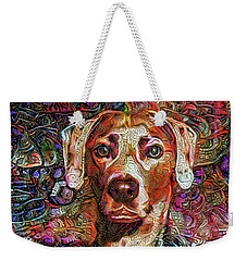 Cash The Lacy Dog Weekender Tote Bag