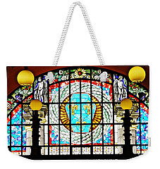 Casino Stained Glass Weekender Tote Bag by Sarah Loft