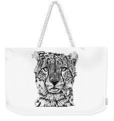 Cassandra The Cheetah Weekender Tote Bag by Abbey Noelle