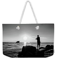 Cast Away Your Troubles Weekender Tote Bag