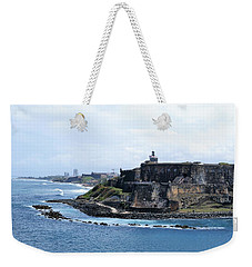Weekender Tote Bag featuring the photograph Castillo San Felipe Del Morro by Lois Lepisto