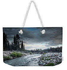 Casting To Cutthroat On A Cold Mountain Stream Weekender Tote Bag