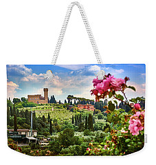 Castle And Roses In Firenze Weekender Tote Bag
