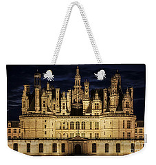 Weekender Tote Bag featuring the photograph Castle Chambord Illuminated by Heiko Koehrer-Wagner