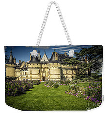Weekender Tote Bag featuring the photograph Castle Chaumont With Garden by Heiko Koehrer-Wagner