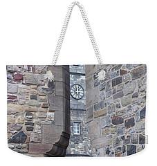 Castle Clock Through Walls Weekender Tote Bag