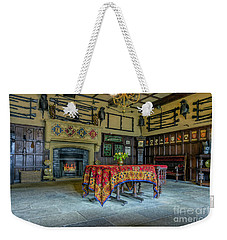 Weekender Tote Bag featuring the photograph Castle Dining Room by Ian Mitchell