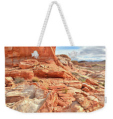 Castle High Above Wash 5 In Valley Of Fire Weekender Tote Bag