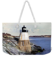 Weekender Tote Bag featuring the photograph Castle Ill Light by Robin-Lee Vieira