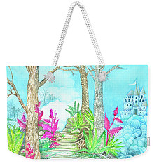 Castle In The Blue Weekender Tote Bag