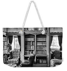 Weekender Tote Bag featuring the photograph Castle Library by Christi Kraft