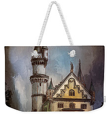 Weekender Tote Bag featuring the painting Castle Neuschwanstein by Andrzej Szczerski