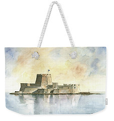 Castle Of Bourtzi In Nafplio Weekender Tote Bag