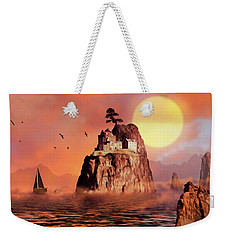 Castle On Seastack Weekender Tote Bag