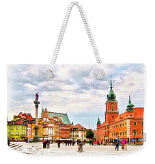 Castle Square, Warsaw Weekender Tote Bag by Maciek Froncisz