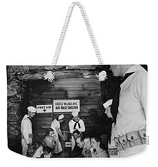 Castle Village Air Raid Shelter Weekender Tote Bag by Cole Thompson