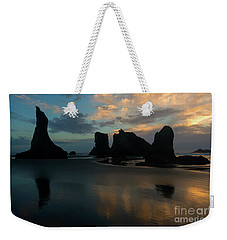 Weekender Tote Bag featuring the photograph Castles In The Sand by Mike Dawson
