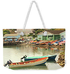 Weekender Tote Bag featuring the photograph Castries Harbor Waterfront by Roupen  Baker