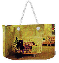 Weekender Tote Bag featuring the photograph Casual Student by Lewis Mann