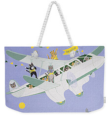 Cat Air Show Weekender Tote Bag by Pat Scott