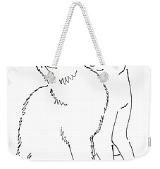 Cat-art-curious Weekender Tote Bag