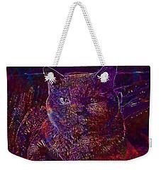 Weekender Tote Bag featuring the digital art Cat Cat S Eyes Eye Animal Pet  by PixBreak Art