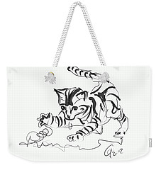 Cat- Cute Kitty  Weekender Tote Bag