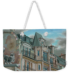 Cat From A Boulevard Montparnasse Weekender Tote Bag