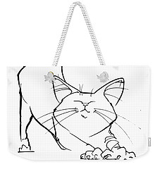 Cat Gesture Sketch Weekender Tote Bag