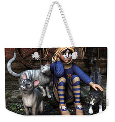 Cat Girl Weekender Tote Bag by Jutta Maria Pusl