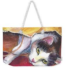 Cat In A Bag Painting Weekender Tote Bag
