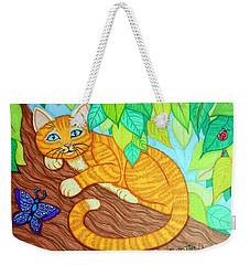 Cat In A Tree Weekender Tote Bag by Nick Gustafson