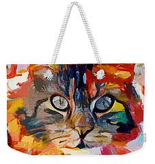 Cat In Fire Weekender Tote Bag