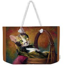 Cat In The Basket Weekender Tote Bag