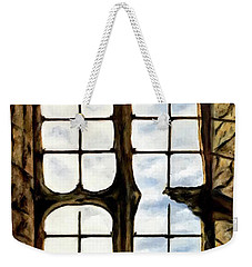 Cat In The Castle Window Weekender Tote Bag